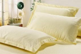 米黄3公分缎条枕套